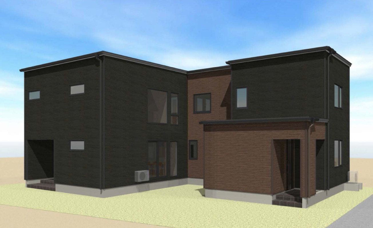 札幌市 H様邸<br>『シンプルモダンなカッコいい二世帯住宅』です👍